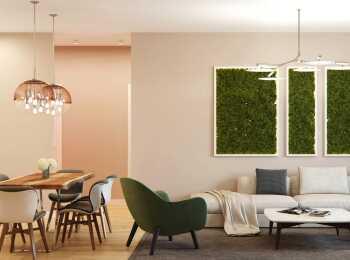 Оформление гостиной в стиле «Сирокко»